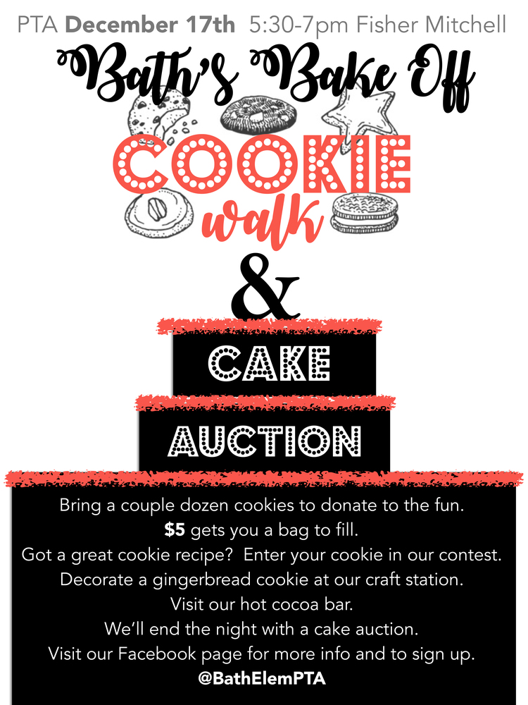 PTA Cookie Walk & Cake Auction