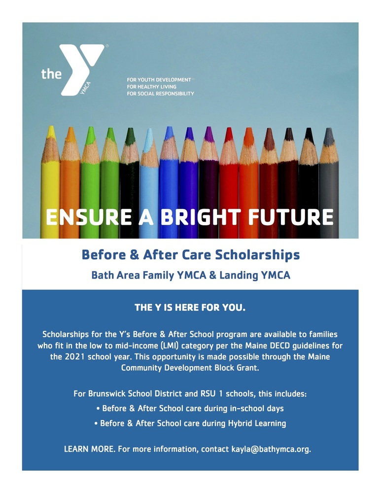 Bath YMCA Before & After Care Scholarships