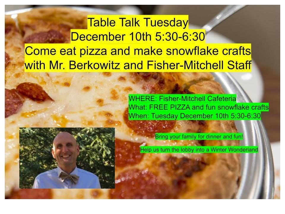 December Table Talk Tuesday