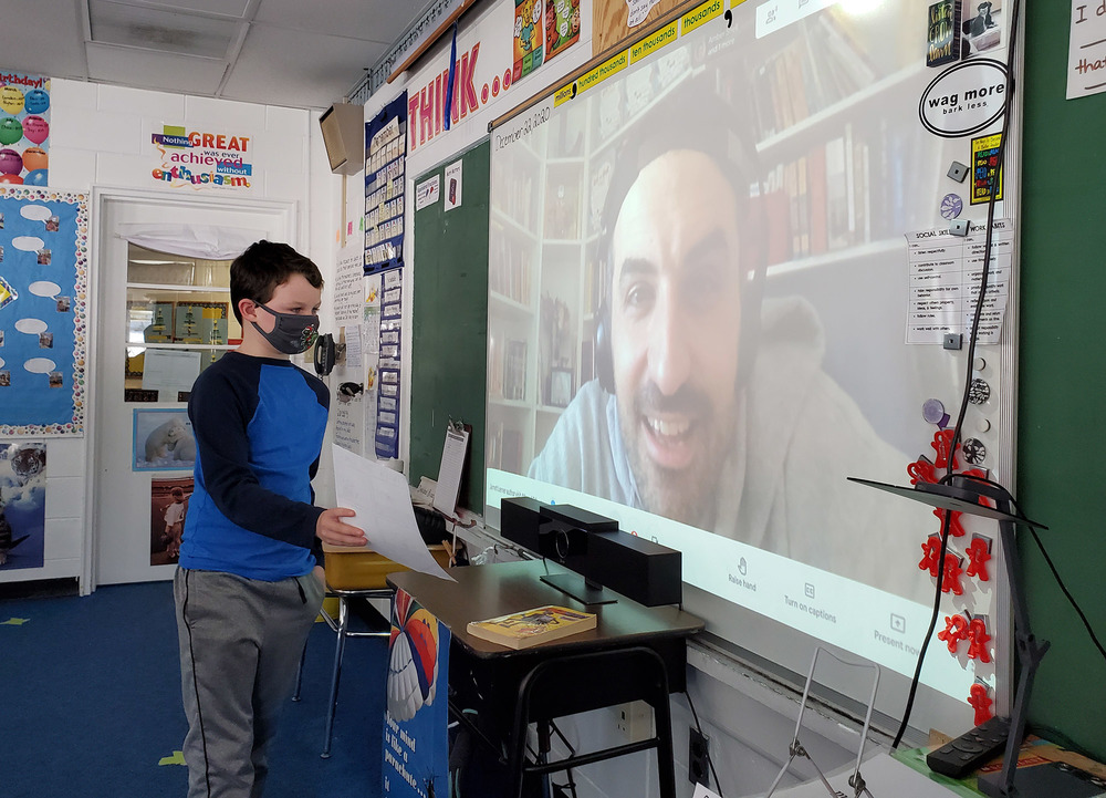 RSU1 Elementary School Classrooms Enjoy Virtual Author Visits