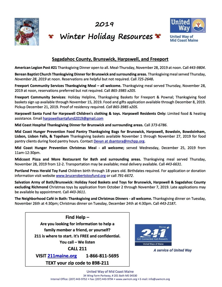 Winter Holiday Resources 2019