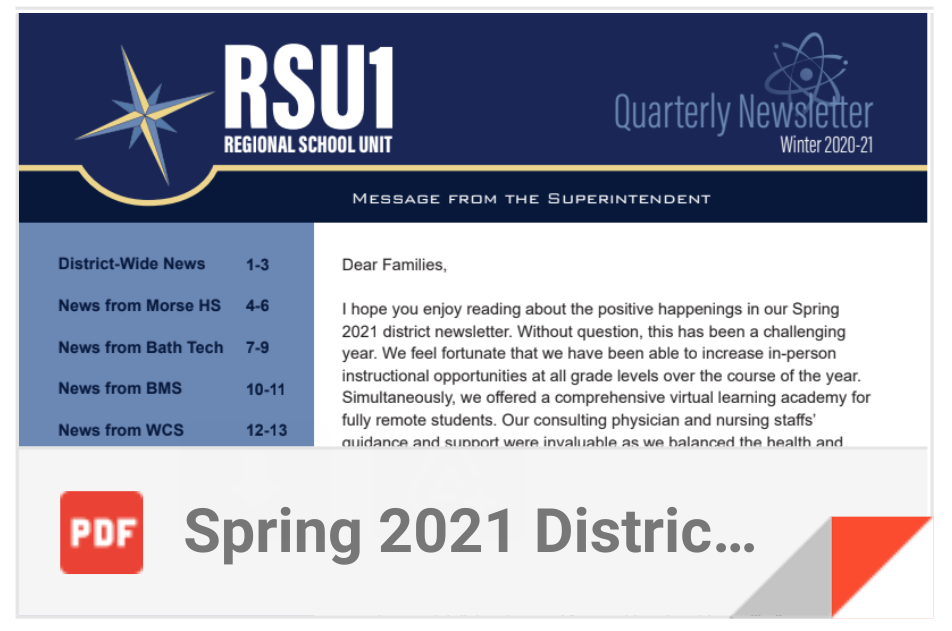 Read all about in the Spring 2021 District Newsletter