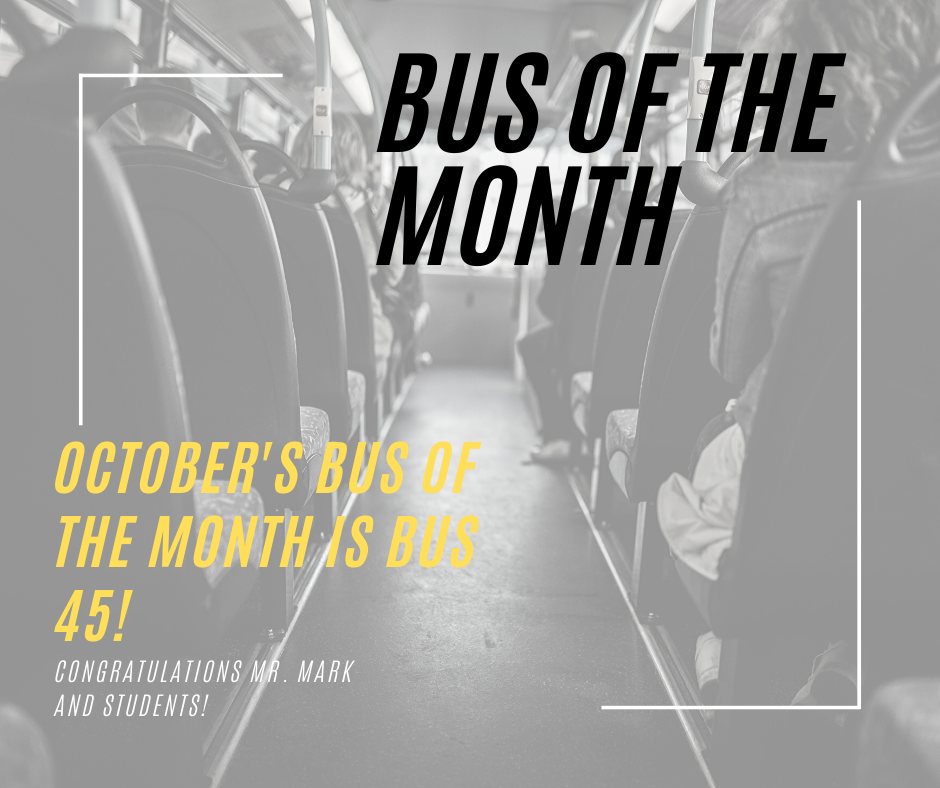 October Bus of the Month