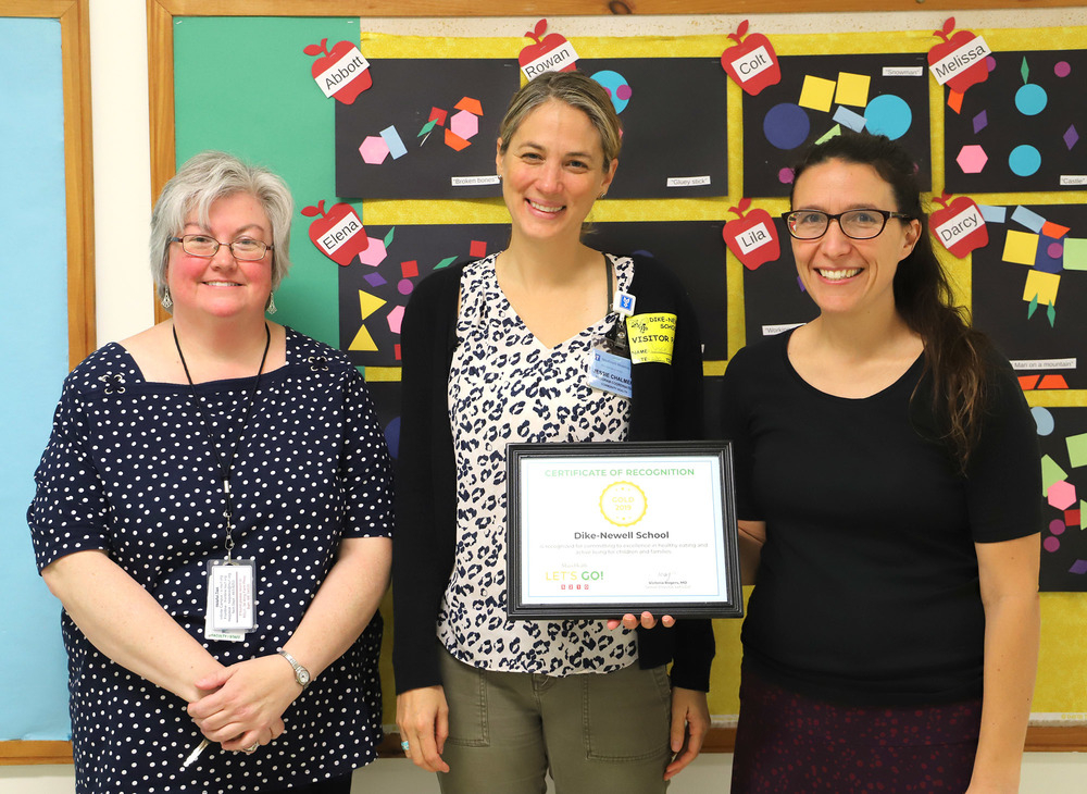 Dike-Newell School Earns Gold from Let's Go! Wellness Program