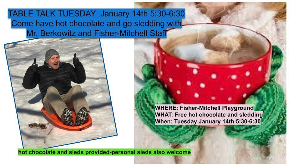 TABLE TALK TUESDAY - hot chocolate & sledding