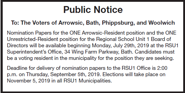 School Board Nomination Papers Now Available