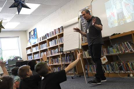 Maine Author/Illustrator Matt Tavares Visits Phippsburg Elementary