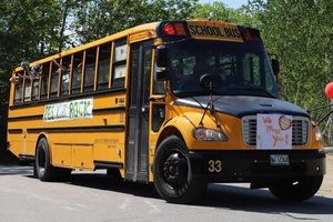 Phippsburg Elementary School Bus Parade Visits Students on Last Day of School