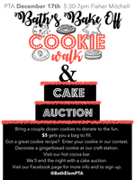 Bath's Bake Off - Cookie Walk and Cake Auction