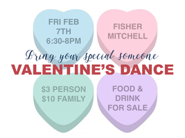 "​BATH ELEMENTARY PTA PRESENTS: ""Bring your someone special Valentine' Dance"""