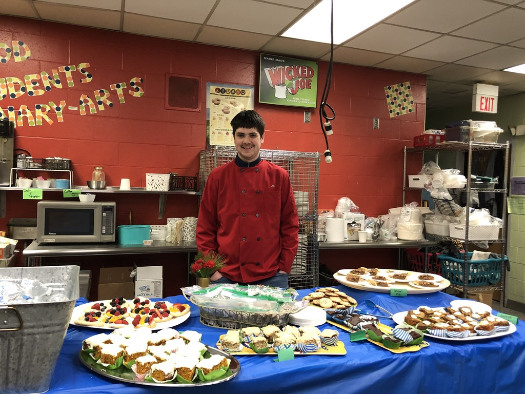 Student prepared lunch for Bath Rotary.