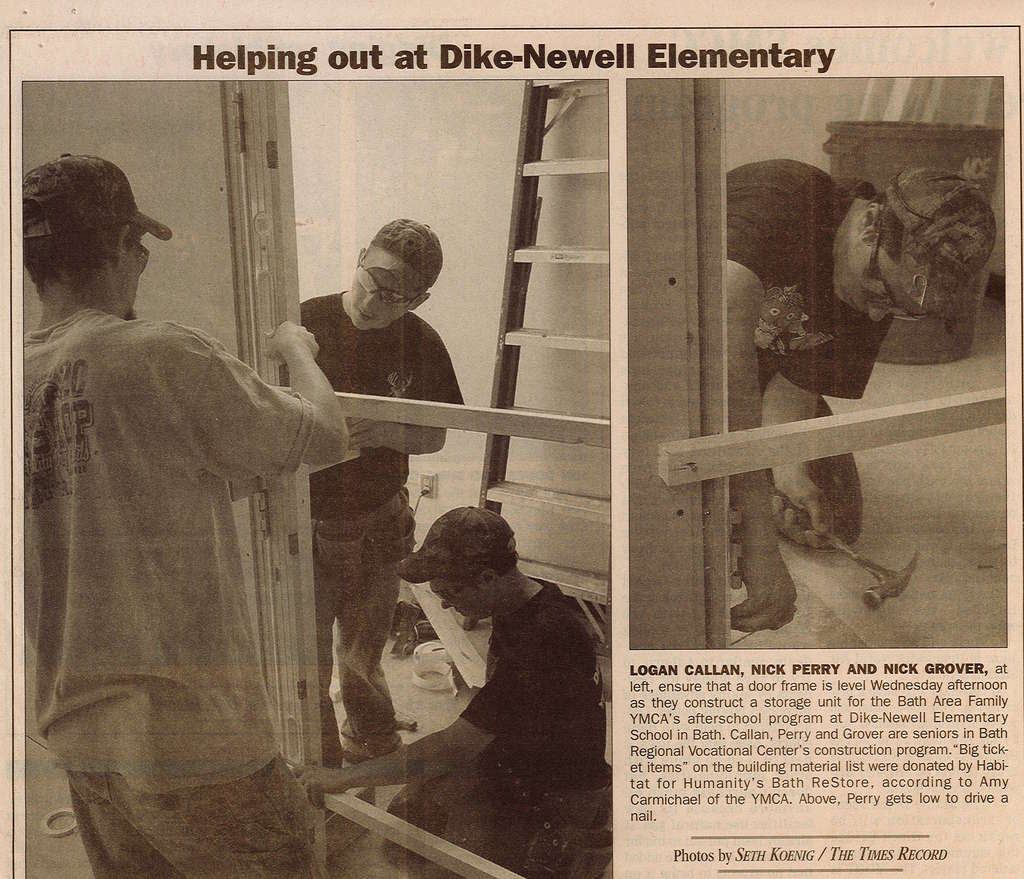 BRCTC Students help out at Dike Newall School