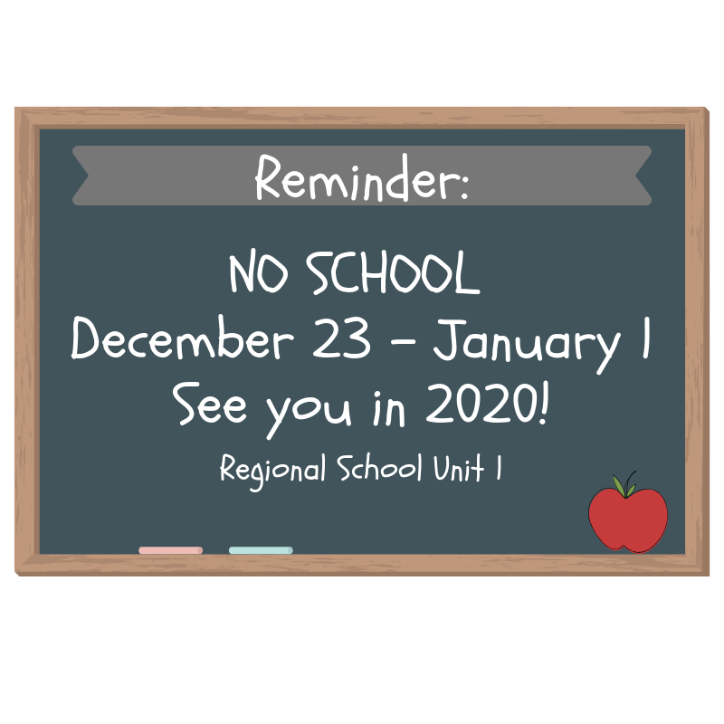 No School December 23- January 1