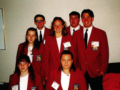 Students attending a VICA conference